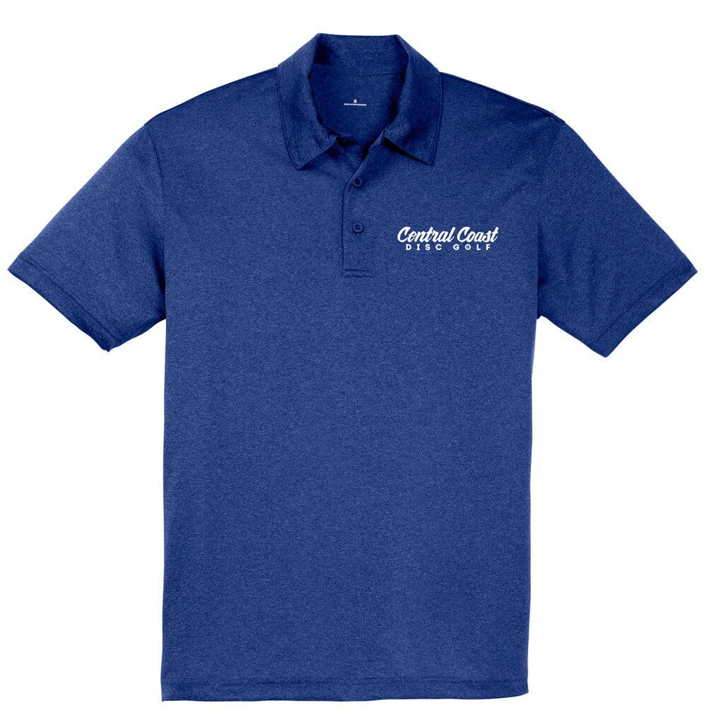 Central Coast Disc Golf Text Logo Dry Fit Polo