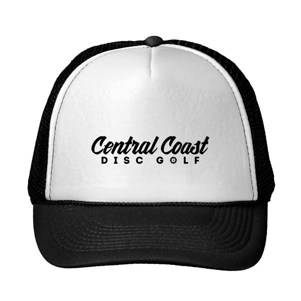 Central Coast Disc Golf Text Logo Trucker Hat