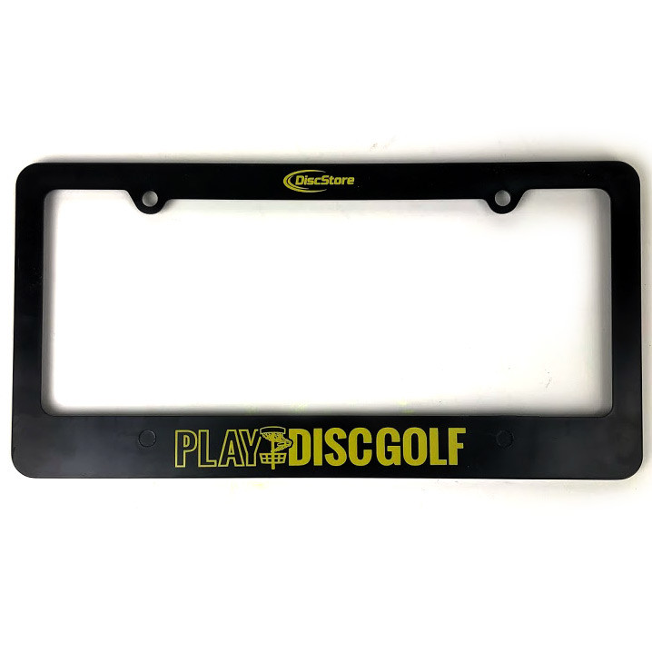 Play Disc Golf License Plate Frame