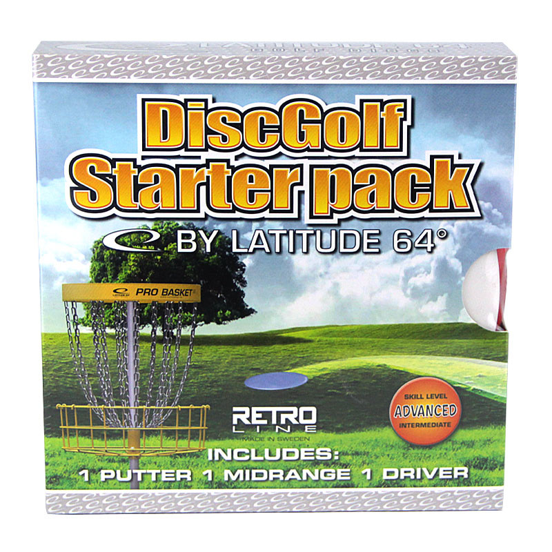 Latitude 64 Advanced Retro Line Disc Golf Starter Set