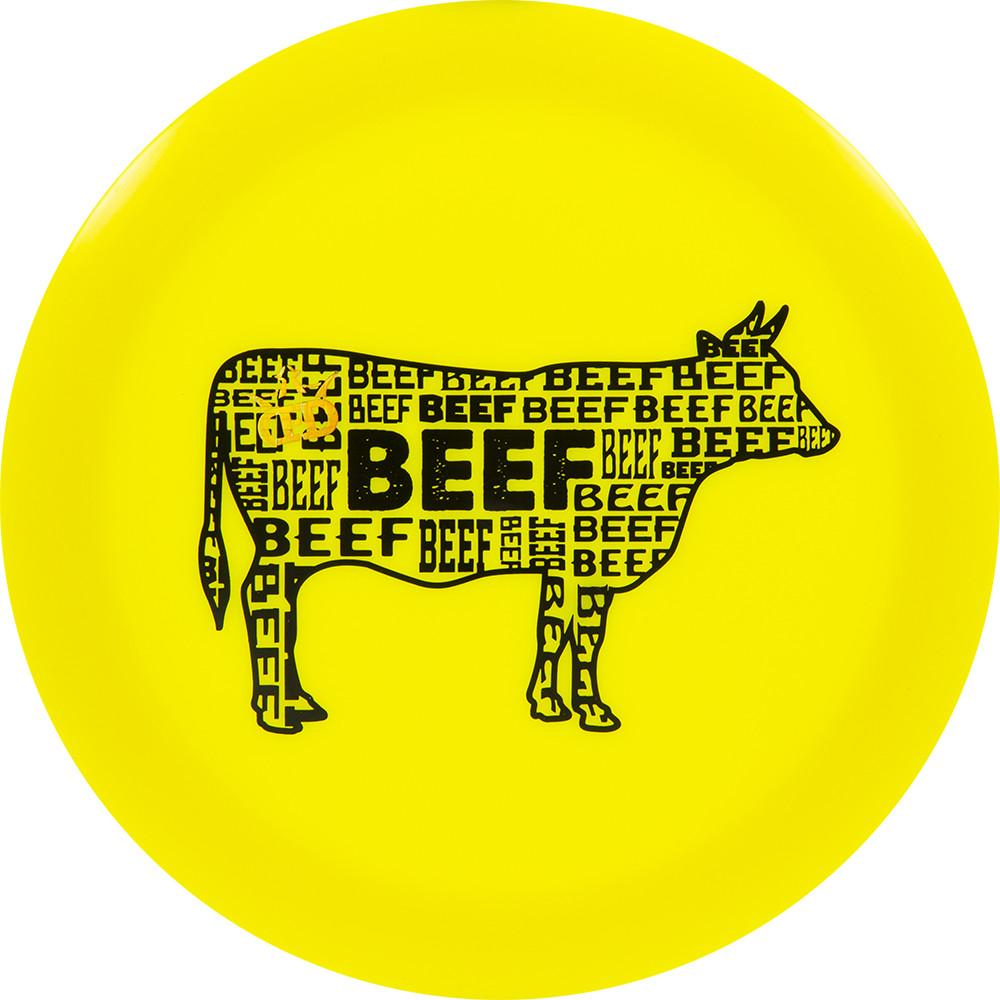 Dynamic Discs Lucid Defender Branded Beef Limited Stamp