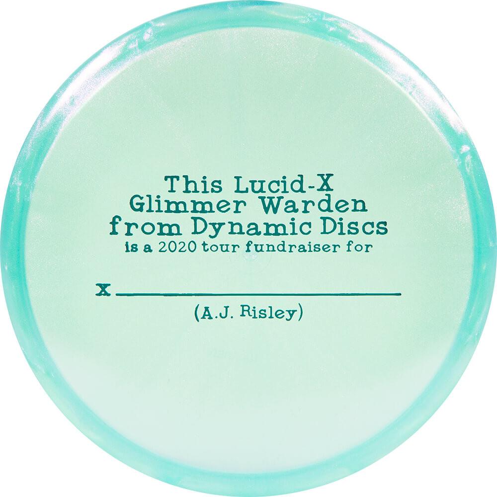 Dynamic Discs Lucid-X Glimmer Warden AJ Risley 2020 Team Series