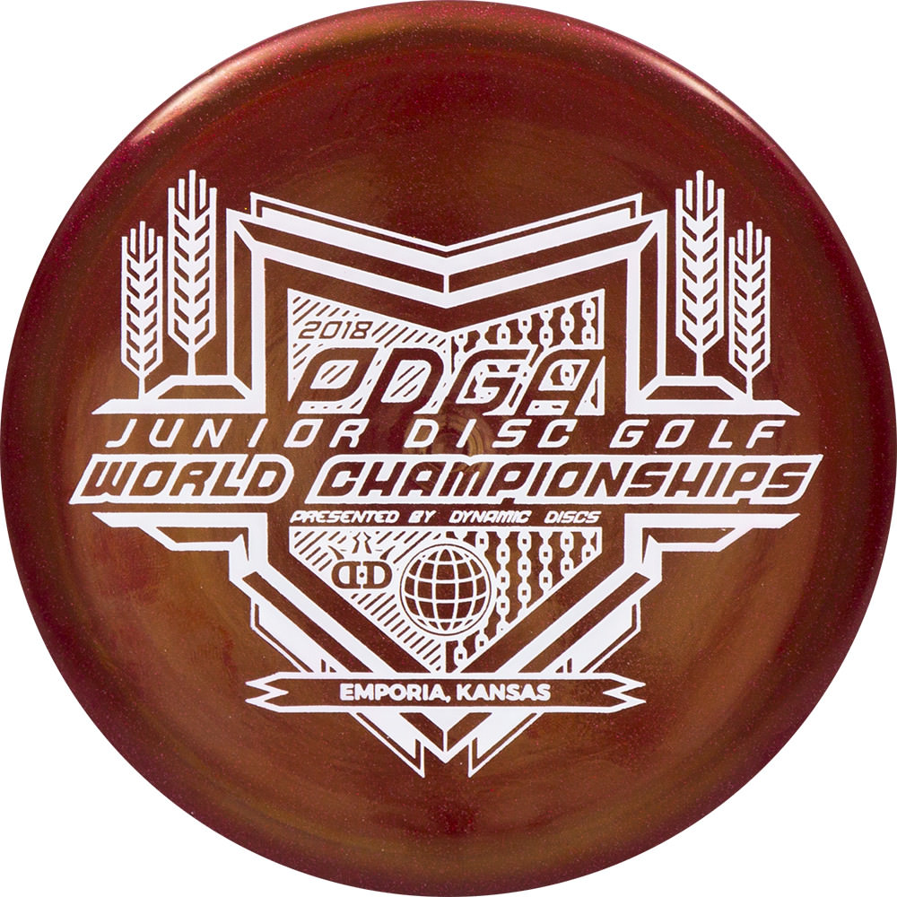 Dynamic Discs Metallic Junior EMAC Truth Junior Worlds Stamp