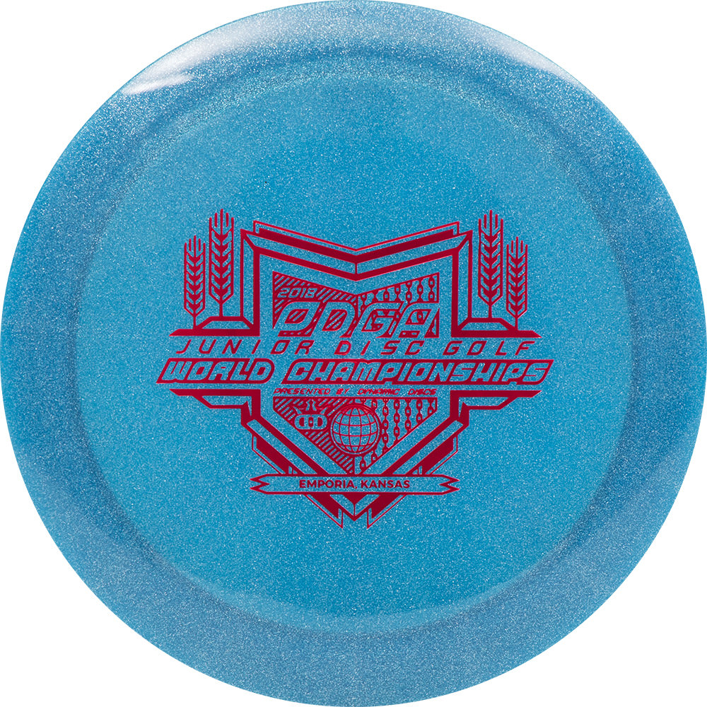 Dynamic Discs Metallic Junior Sheriff Junior Worlds Stamp