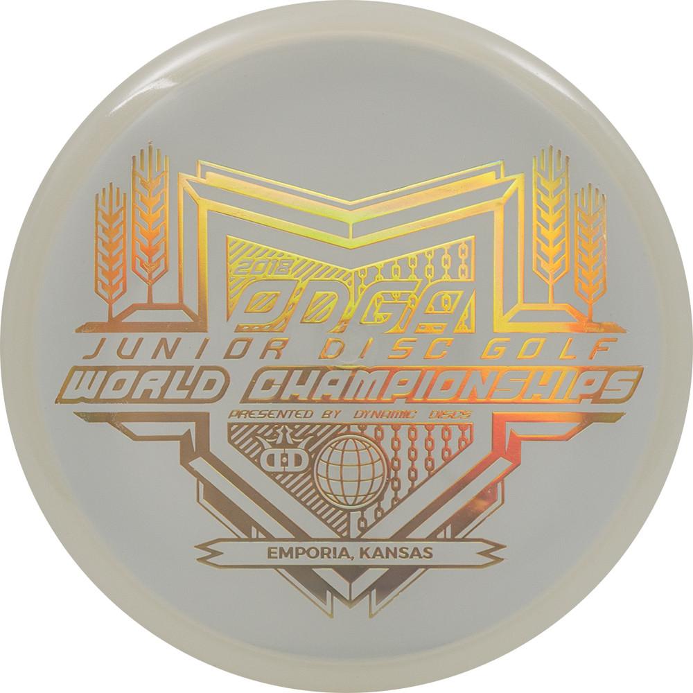 Dynamic Discs Moonshine Junior Judge Junior Worlds Stamp