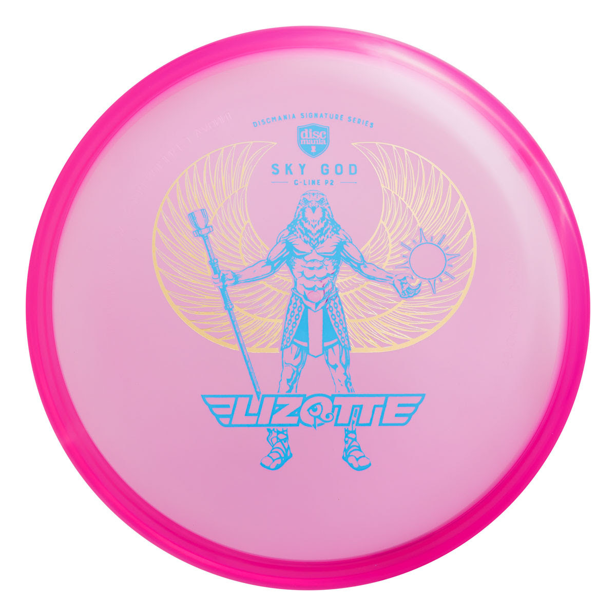 "Discmania Limited Edition Double Stamp "" Golden Wings Sky God"" C-Line P2"