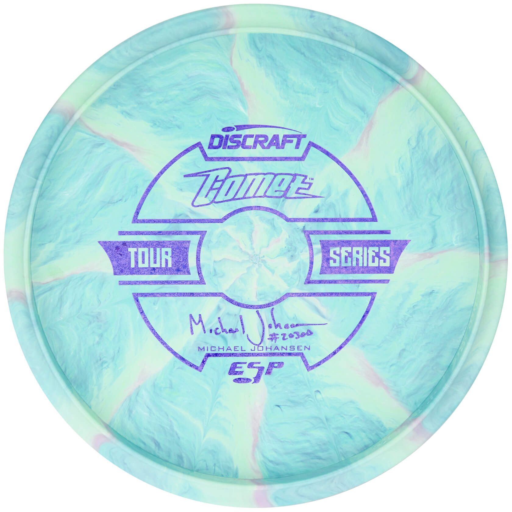 Discraft Swirly ESP Comet Michael Johansen 2019 Tour Series