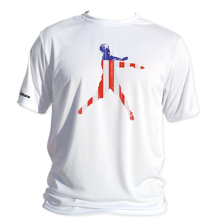 Will Schusterick Flag Dry Fit Shirt