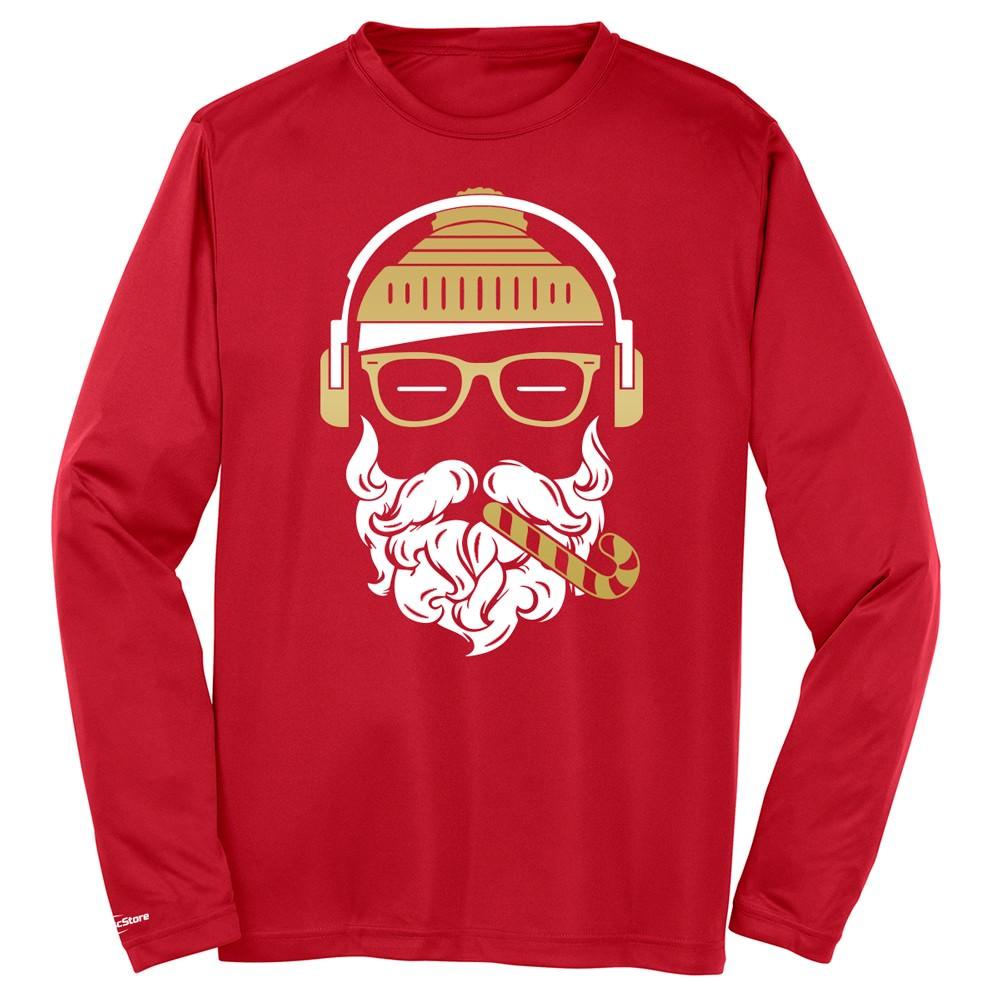 Hipster Santa Long Sleeve Jersey