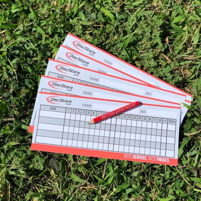 Disc Golf Fillable Cardstock Scorecard Blank - 5 Pack