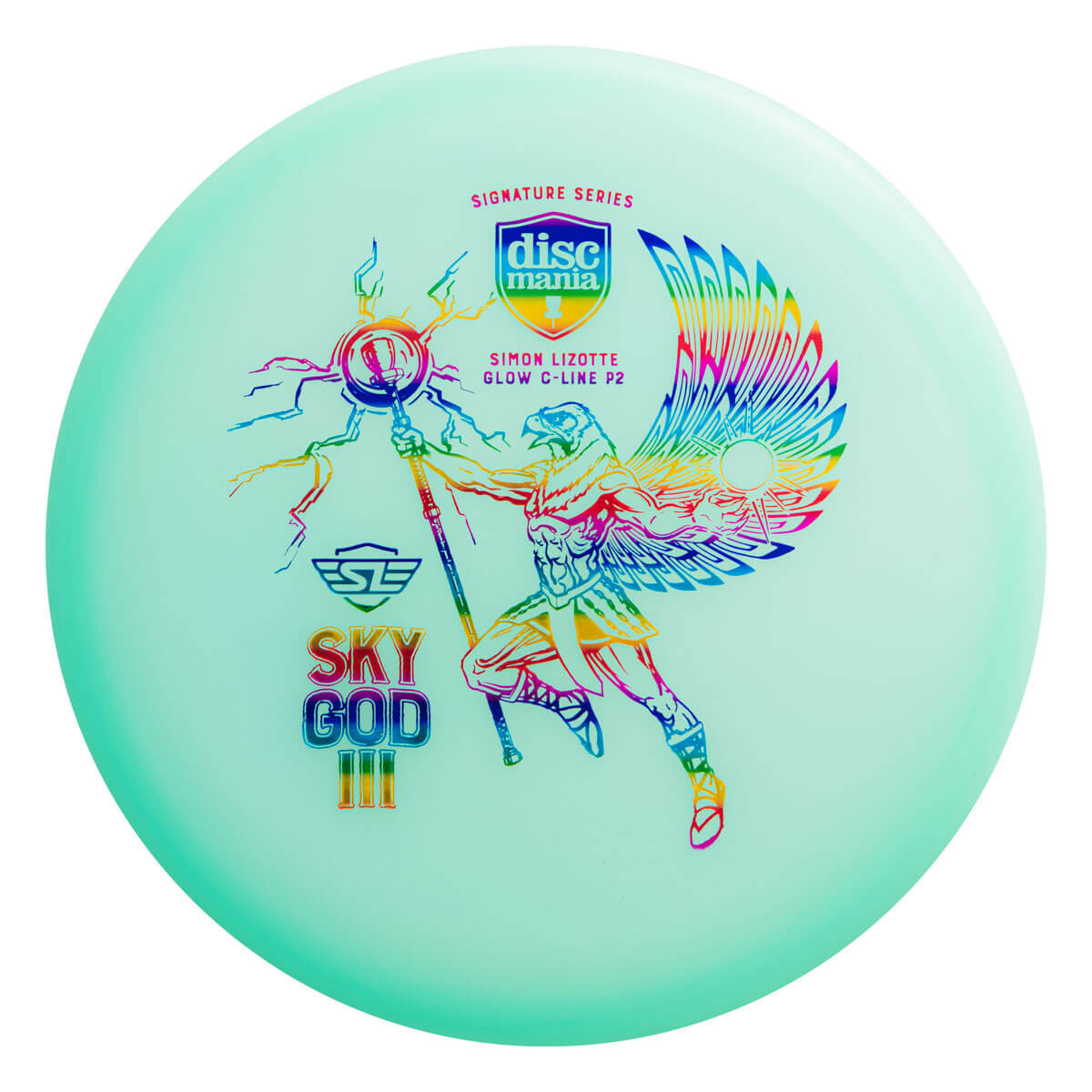 DiscMania Color Glow C-Line P2 Simon Lizotte Signature Series Sky God III