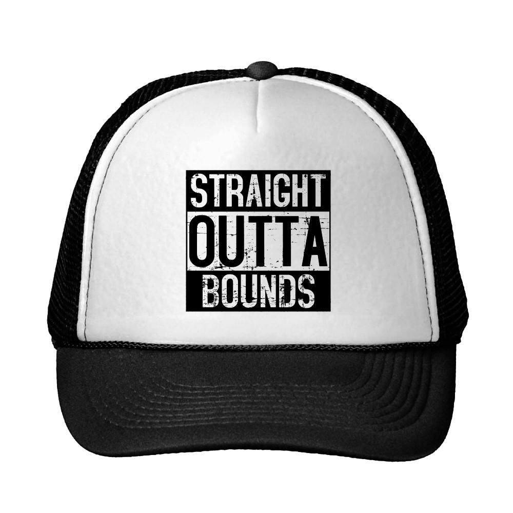 Straight Outta Bounds Disc Golf Trucker Hat