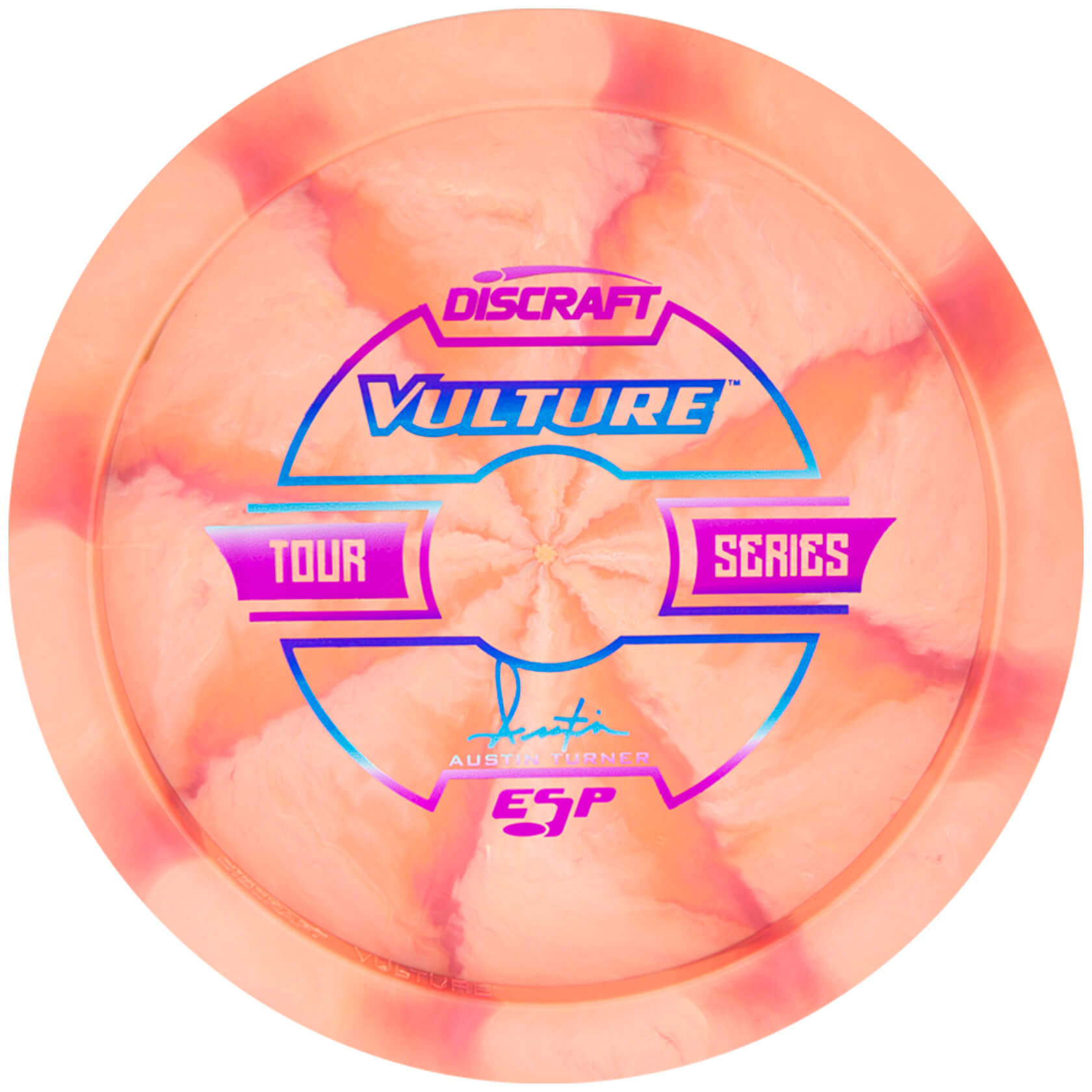 Discraft Swirly ESP Vulture Austin Turner 2019 Tour Series