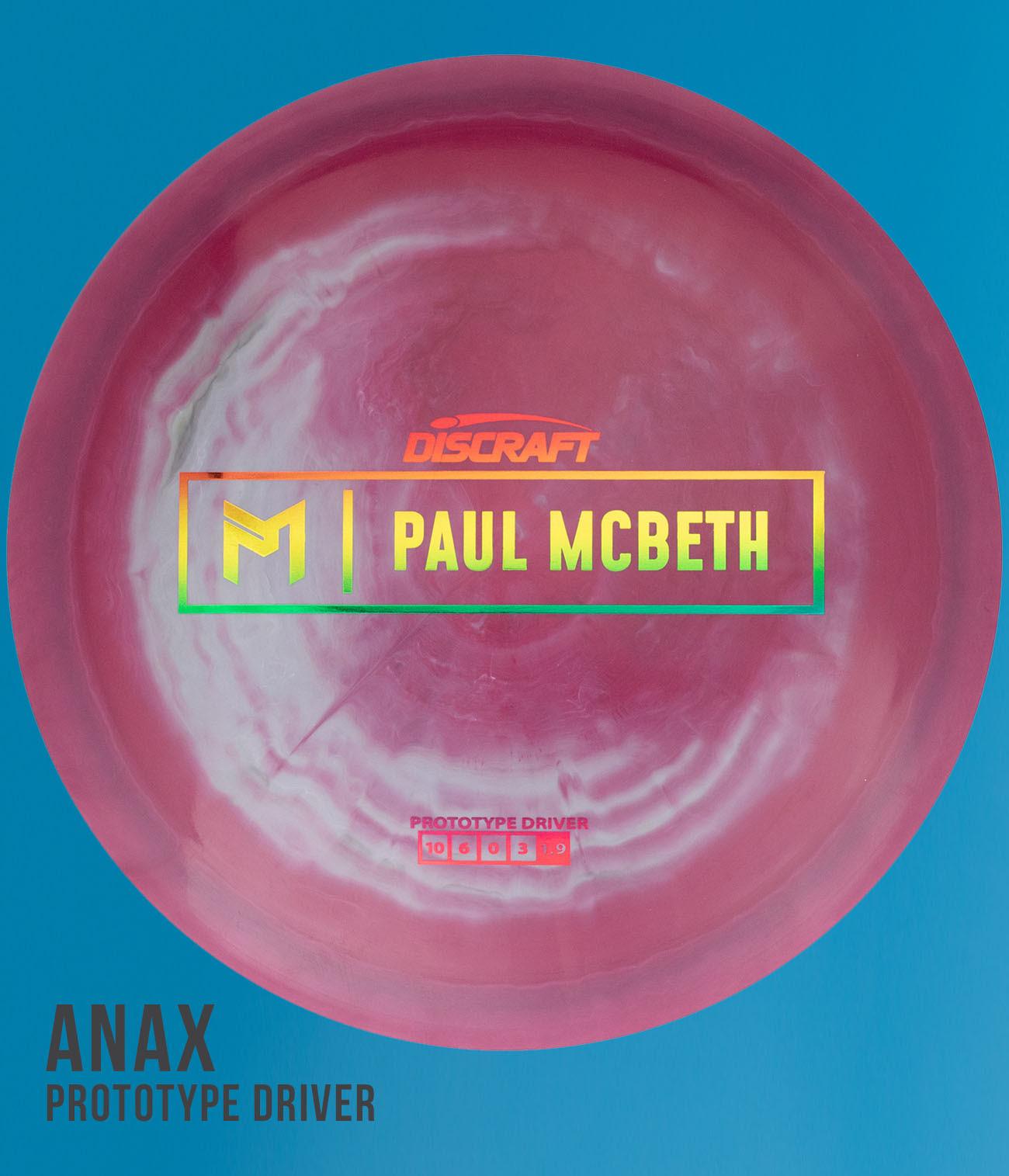 Discraft Swirly ESP Paul McBeth Prototype Anax