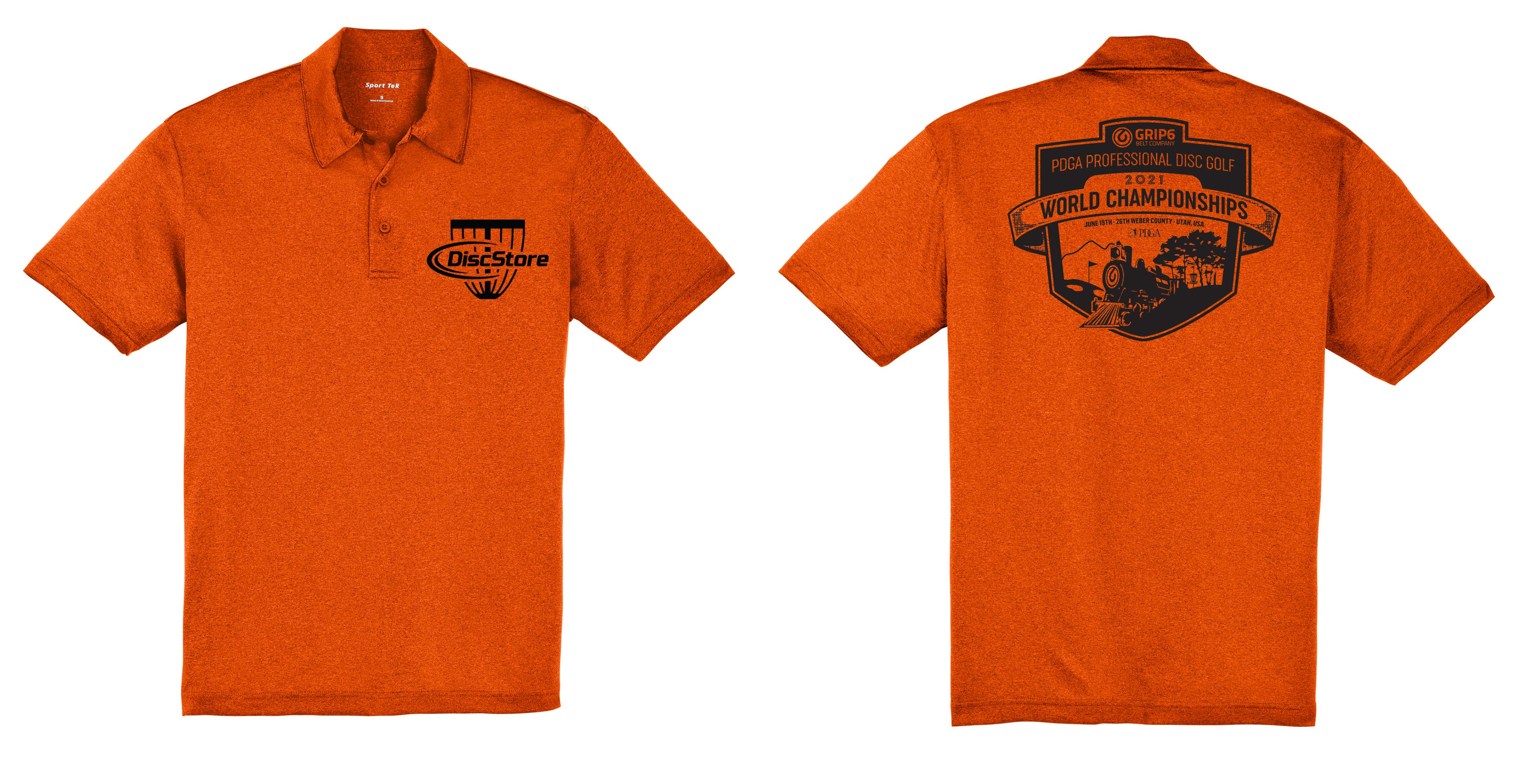 2021 Pro Worlds Fundraiser Heathered Dry Fit Polo