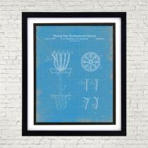 Framed 8 x 10 Disc Golf Patent Poster