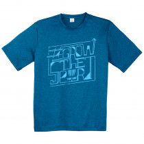 #GrowtheSport Heathered Dry Fit Typographical Shirt