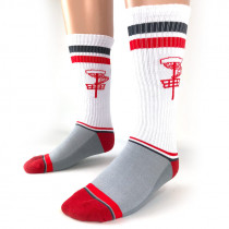 Vintage Disc Golf Basket Crew Socks
