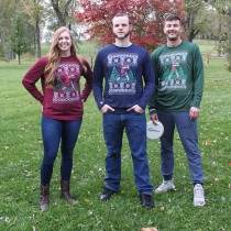 The Disc Golf Ugly Sweater Long Sleeve Dry Fit