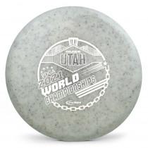 Gateway Diamond Metal Flake Super Glow Element 2021 PDGA Pro Worlds Fundraiser Stamp