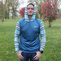 Full Sub Blue Saguaro Hooded Jersey