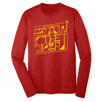 #GrowtheSport Heathered Long Sleeve Dry Fit Typographical Shirt