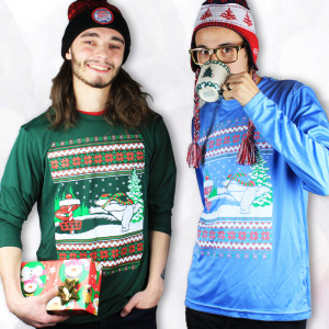Disc Golf Bear Ugly Sweater Dry Fit