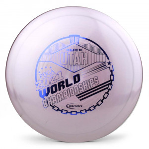Innova Shimmer Star Teebird 2021 PDGA Pro Worlds Fundraiser Stamp