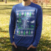 Disc Golf Basket Ugly Sweater Long Sleeve Dry Fit Jersey