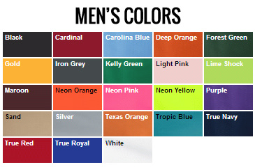 Men's Colors