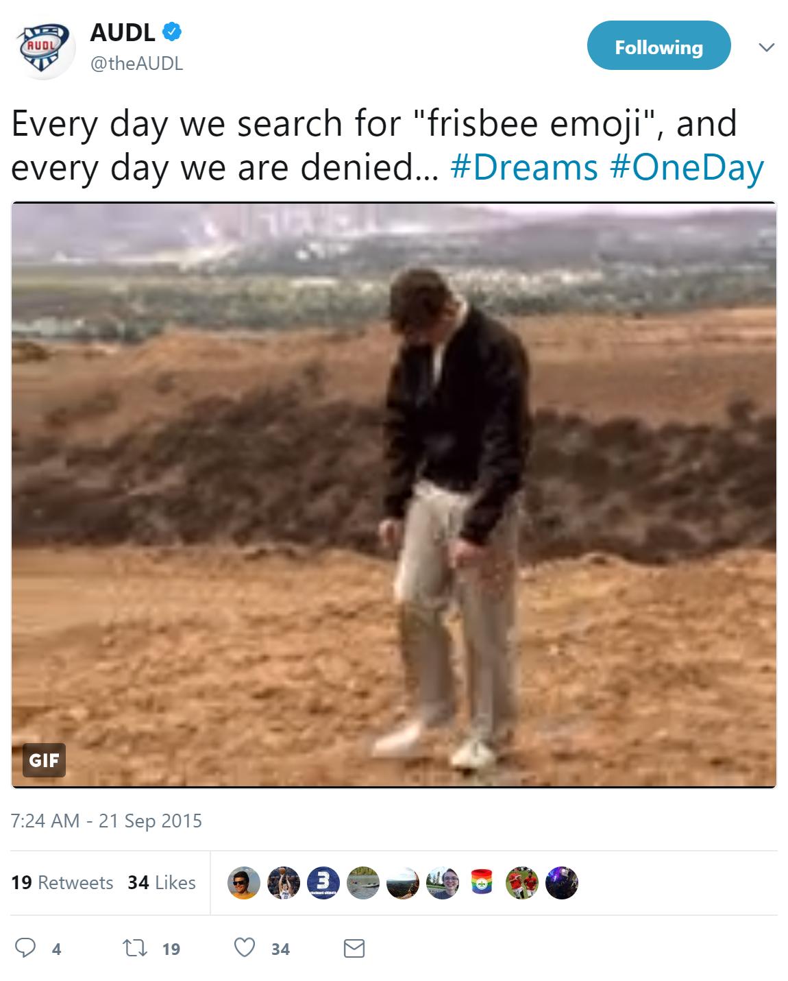audl frisbee emoji